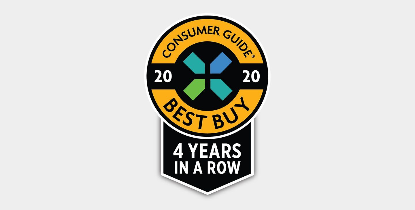 Mostrar logo de Consumer Guide Best Buy 20183 Years in a Row.